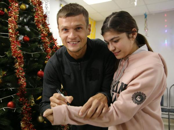 Андрей Павленко и Денис Тумасян поздравили учащихся школы-интерната № 41